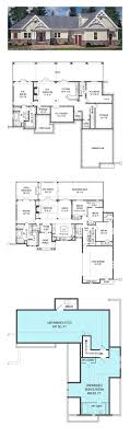 ranch floor plans with walkout basement house plans walkout basements home plans with basements