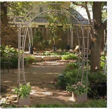 wedding arbor ebay wedding trellises garden arbor arch w gate large iron