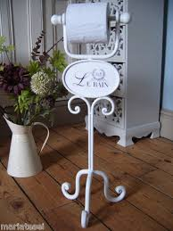 shabby chic french vintage style white free standing toilet loo