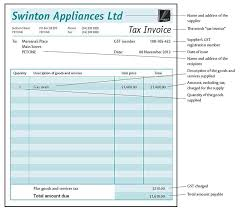 gst invoice template nz invoice example nz tax invoice template
