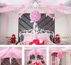 Discount Wedding Decorations Wedding Room Decoration Net Yarn Flower Wedding Ceremony Scene