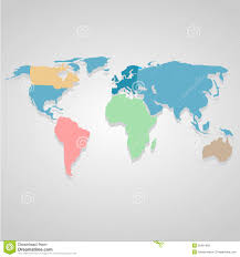 Best World Map Color World Map Icon Great For Any Use Vector Eps10 Stock Vector