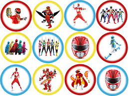 power rangers cake toppers power rangers 24 edible wafer cake toppers designed