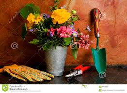 spring gardening tools stock photography image 4343222