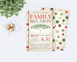 printable family reunion invitation editable pdf template