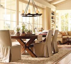 country style wood table and chairs in contemporary dining room
