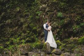 photographer for wedding abiqua falls elopement waterfall wedding oregon wedding