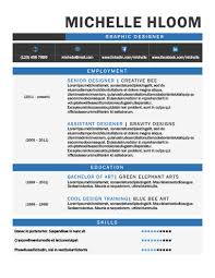 Resume Sample For Graphic Designer by 49 Creative Resume Templates Unique Non Traditional Designs
