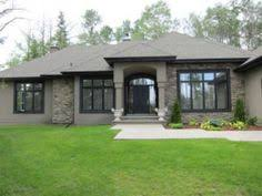 split level addition home design brown trim stone houses and