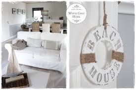 Wohnzimmer Deko Maritim White Grey Home Beach House Im Wohnzimmer