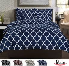 pretty navy bedding queen duvet cover set
