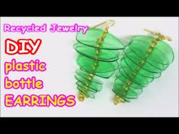 plastic bottle earrings diy earrings recycled jewelry ideas from plastic bottle