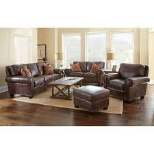 Atwoods Outdoor Furniture - atwood 4 piece top grain leather set costco 4400 living room