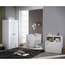 acheter chambre bébé chambre complète lit armoire commode blanc et taupe