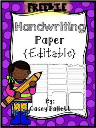 printable lined paper editable writing paper freebie editable by casey hallett tpt