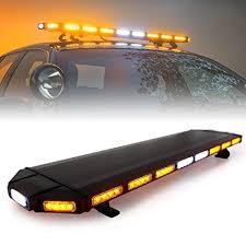 warning light bar amber amazon com xprite black hawk 48 amber emergency warning security