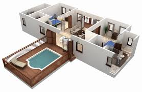 3d architectural floor plans 2 bedroom house plans 3d view beautiful 50 3d floor plans lay out