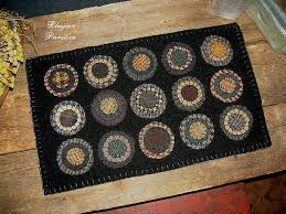 Wool Felt Rugs 42 Best Penny Rugs Images On Pinterest Penny Rugs Wool Applique