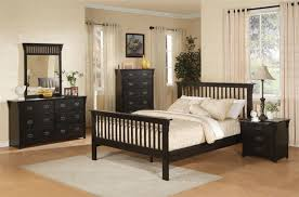 Mission Style Nightstand 6 Piece Mission Style Bedroom Set In Distressed Black Finish By