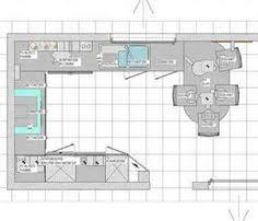 plan cuisine l plan de cuisine en l avec un comptoir pour le repas