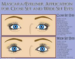hairstyles for close set eyes mascara and eyeliner application for close set eyes and for wide