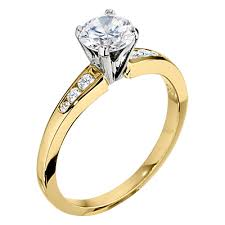 gold engagement ring settings classic engagement ring settings