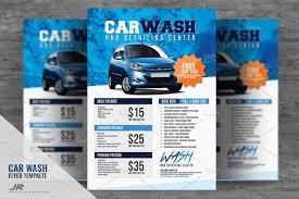 car wash flyer v2 flyer templates creative market