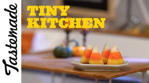 tiny halloween candy corn cake tiny kitchen youtube