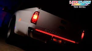 Best Light Bars For Trucks Ledglow U0027s Led Tailgate Light Bar Installation Youtube