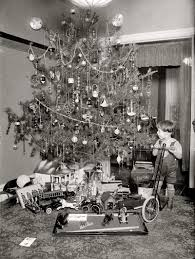 love the white fence vintage christmas photo george
