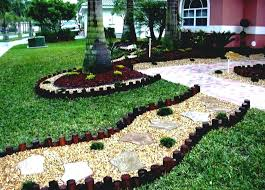 Bush Rock Garden Edging Rock Landscape Design Ideas Mulch And River Rock Landscaping River