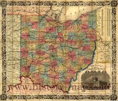 Old Map Map Of Ohio