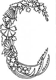 coloring pages for letter c alphabet flowers letter c coloring pages batch coloring
