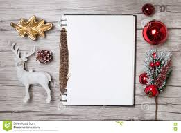 writing white paper christmas letter writing on white paper with decorations stock christmas letter writing on white paper with decorations