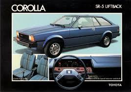 hatchback cars 1980s toyota corolla sr5 liftback 2 door ad 1980 toyota pinterest