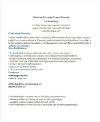 Marketing Executive Resume Samples Free by Free Executive Resume Templates 35 Free Word Pdf Documents