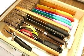 kitchen cabinet knife drawer organizers kitchen knives drawer organizer versatile two tier tray set kitchen