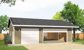 detached 3 car drive thru garage 22046sl architectural designs