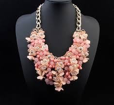 aliexpress bead necklace images Big statement maxi necklace aliexpress hot selling jewelry 4 color jpg