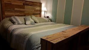 Make Bed Frame How To Make Bed Frame Out Of Pallet Wood Diy On A Budget