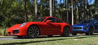 porsche red 2017 2017 porsche 911 c2s u2013 race yellow and guards red first drive