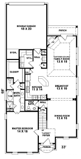 story and half house plans narrow lot homes single story unique narrow lot house plans home