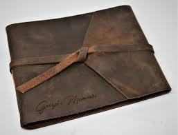 engraved leather photo album leather photo album flap tie premium leather engraved memories