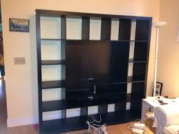 Ikea Besta Bookshelf Tv Stand Ikea Hack 2 Besta Builtin Family Room Tv Bookshelf