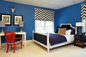 Bedroom Decoration Red And Black This Bedroom Design Has The Right Idea The Rich Blue Color Palette