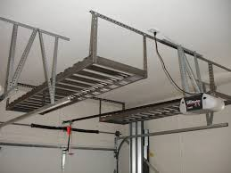 garage garage ceiling hooks elevated storage bike winch shelving