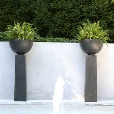 Outdoor Planter Ideas by Have To Have It Fiberclay Aruba Planter On Pedestal 428 99