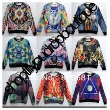 3d sweater mens retro harajuku skull print sleeve 3d sweaters tops