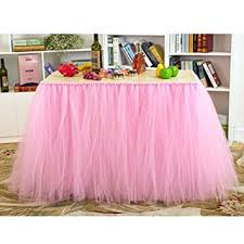 Cloth Table Skirts by Amazon Com Aerwo Tutu Table Skirts Tulle Queen Snowflake