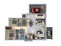 3 Bedroom Garage Apartment Floor Plans 3 Bedroom With Parking Space Floor Plan Decoraciones Pinterest